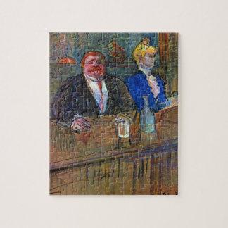 Vintage Impressionism, The Bar by Toulouse Lautrec Jigsaw Puzzle