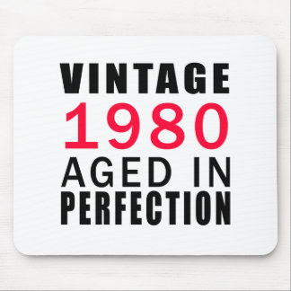 Vintage In 1980 Aged In Perfection Mouse Pad