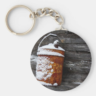 Vintage in the Snow Key Ring