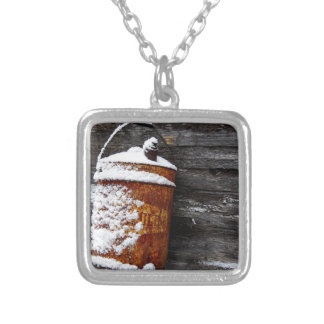 Vintage in the Snow Silver Plated Necklace