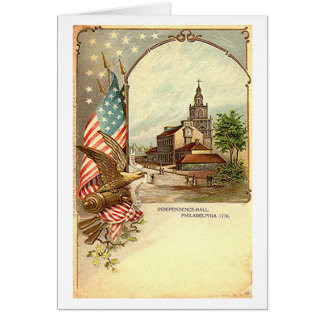 Vintage Independence Hall Card
