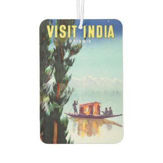 Vintage India Travel Poster air freshner Car Air Freshener