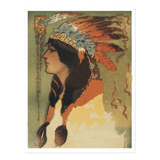 Vintage Indian Girl Post Cards