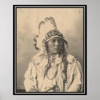 Vintage indian : Spotted Jack Rabbit, Crow - Poster