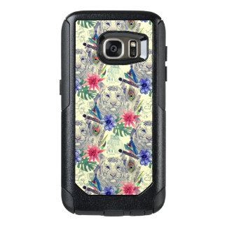 Vintage Indian Style Tiger Pattern OtterBox Samsung Galaxy S7 Case