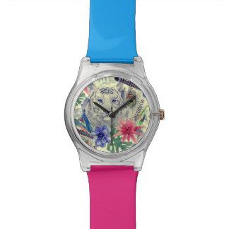 Vintage Indian Style Tiger Pattern Wrist Watch