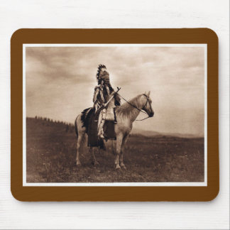 Vintage Indian War Chief Mouse Pad