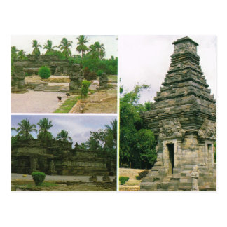 Vintage Indonesia, Penataran temples, Bitar, Postcard