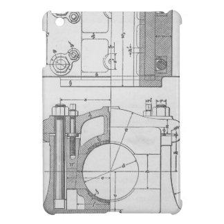 Vintage Industrial Mechanic's Graphic Cover For The iPad Mini