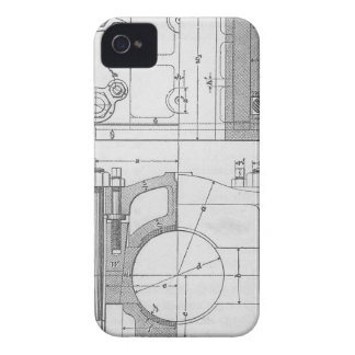 Vintage Industrial Mechanic's Graphic iPhone 4 Case-Mate Cases