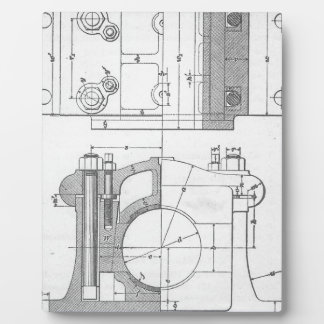 Vintage Industrial Mechanic's Graphic Photo Plaque