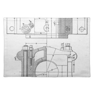 Vintage Industrial Mechanic's Graphic Placemat