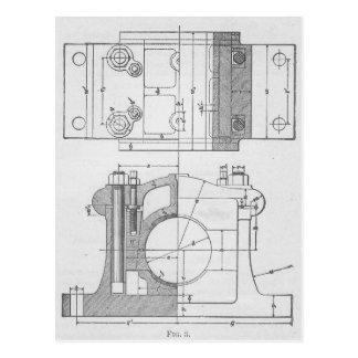 Vintage Industrial Mechanic's Graphic Postcard