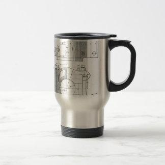 Vintage Industrial Mechanic's Graphic Travel Mug