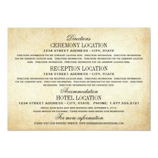 Vintage Information Cards | Rustic Elegance 11 Cm X 16 Cm Invitation Card