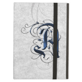 Vintage Initial A iPad Cases