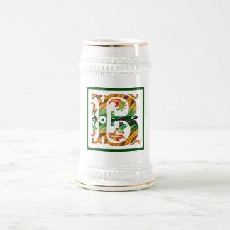 Vintage Initial B - Monogram B _ Beer Stein