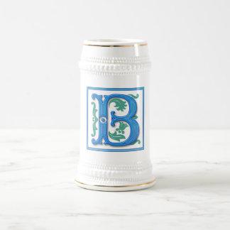 Vintage Initial B - Monogram B Beer Stein
