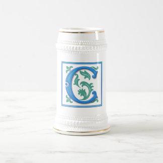 Vintage Initial C - Monogram C Beer Stein