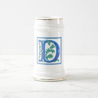Vintage Initial D - Monogram D<br> Beer Stein