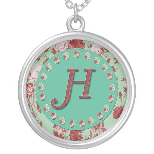 Vintage Initial H Necklace