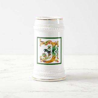 Vintage Initial J - Monogram J Beer Stein