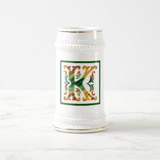 Vintage Initial K- Monogram K Beer Stein