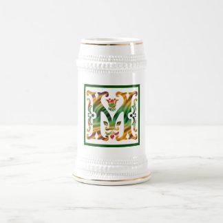 Vintage Initial M- Monogram M Beer Stein