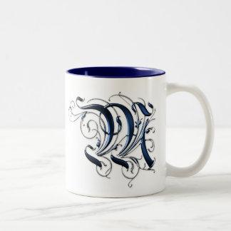 Vintage Initial M Coffee Mug