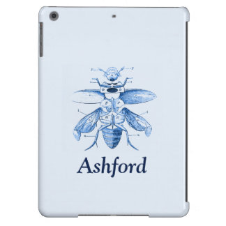 Vintage Insect Image | Beetles | Blue Case For iPad Air
