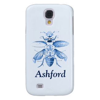 Vintage Insect Image | Beetles | Blue Galaxy S4 Case
