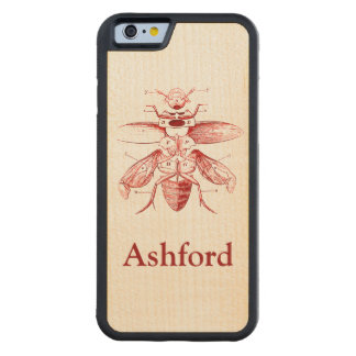 Vintage Insect Image | Beetles | Red Maple iPhone 6 Bumper