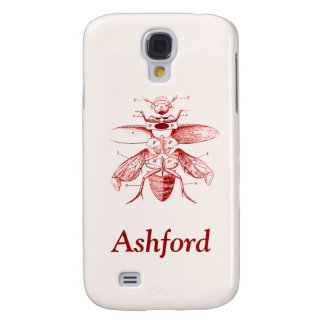 Vintage Insect Image | Beetles | Red Samsung Galaxy S4 Cover