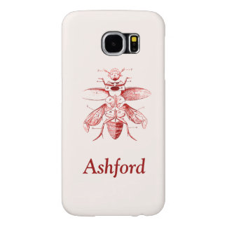 Vintage Insect Image | Beetles | Red Samsung Galaxy S6 Cases
