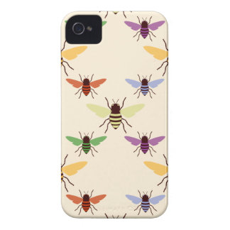 Vintage insect rainbow bees bumblebees pattern iPhone 4 case