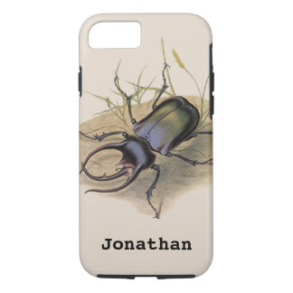 Vintage Insects and Bugs, Rhino Rhinoceros Beetle iPhone 7 Case
