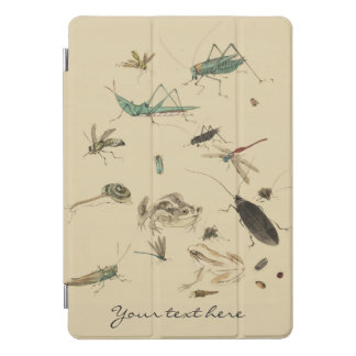 Vintage Insects & Frogs Japanese Watercolor Custom iPad Pro Cover