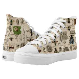 Vintage Insects Wasps Bees Entomology Taxonomy Printed Shoes
