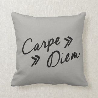 "Vintage Inspired ""Carpe Diem"" Throw Pillow"