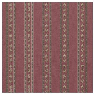 Vintage-Inspired Dark Red Stripe Pattern Fabric