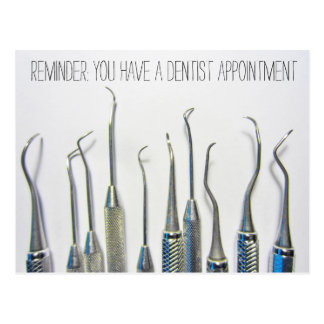 Vintage Inspired Dentist Appointment Reminder Postcard