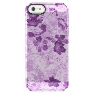 Vintage Inspired Floral Mauve Clear iPhone SE/5/5s Case