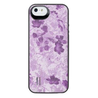 Vintage Inspired Floral Mauve iPhone SE/5/5s Battery Case