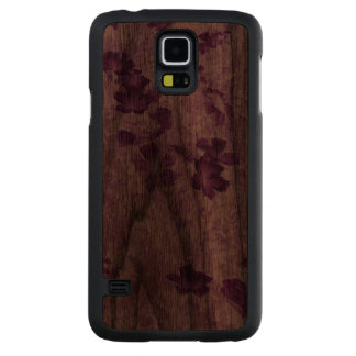 Vintage Inspired Floral Mauve Walnut Galaxy S5 Case