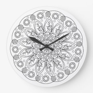 Vintage Inspired Floral Wall Clock