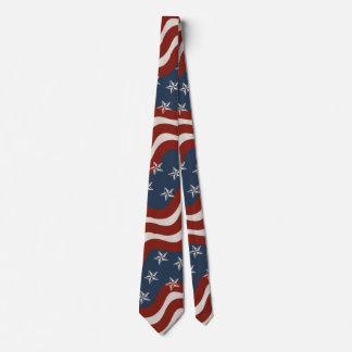 Vintage Inspired Patriotic Stars and Stripes Tie