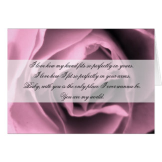 Vintage Inspired Romance Rose Quote Card
