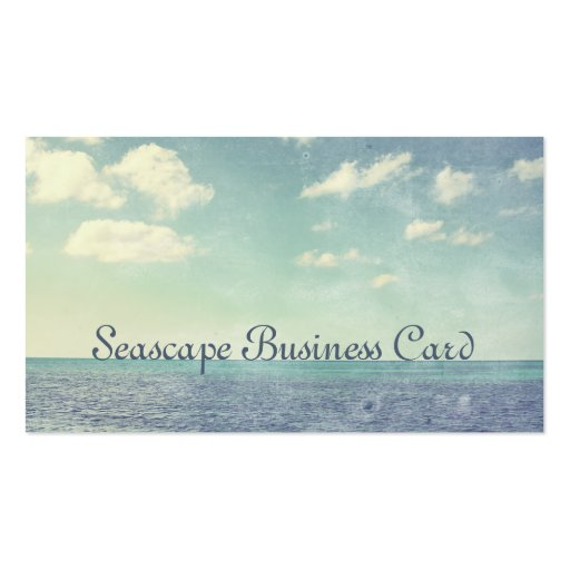 Vintage Inspired Seascape Business Card