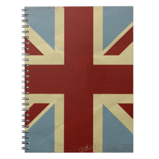 Vintage Inspired Union Jack Flag Design Spiral Notebook