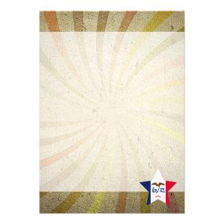 Vintage Iowan Flag Swirl 13 Cm X 18 Cm Invitation Card